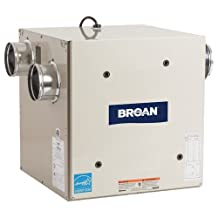 "Broan HRV70SE Heat Recovery Ventilator, 120V Side Ports for 4"" Ducts - 73 CFM"