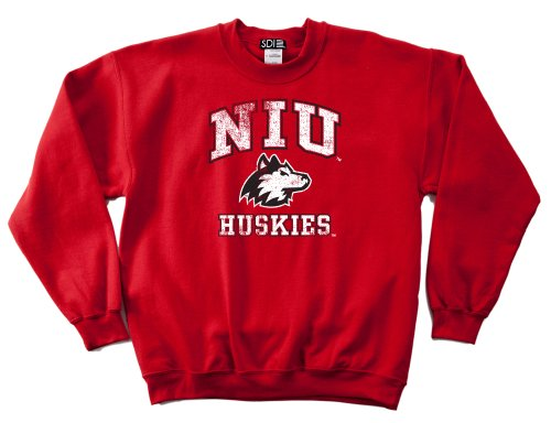 NCAA Northern Illinois Huskies 50/50 Blended 8-Ounce Vintage Mascot Crewneck Sweatshirt, Medium, ()