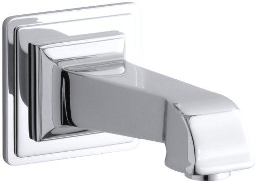 Kohler K-13139-A-CP Pinstripe Pure Wall-Mount Bath Spout, Polished Chrome