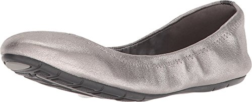 Cole Haan Women's Zerogrand Ballet II Gunmetal Shimmer Metallic Leather 11 B US