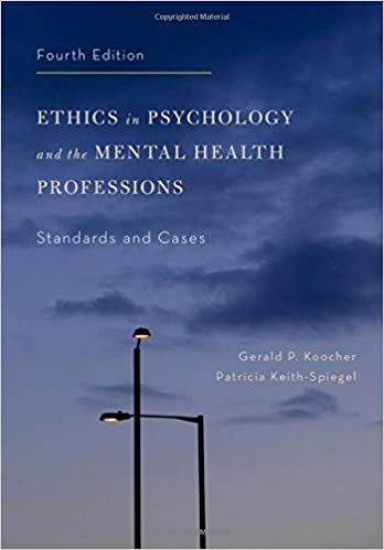 Amazon com: Ethics in Psychology and the Mental Health Professions