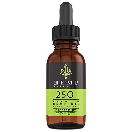 Hemp Biohacks Hemp Extract for Anxiety & Pain Relief - 250mg
