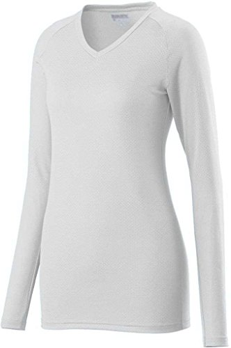 Augusta - Camiseta de manga larga - para mujer Blanco - blanco