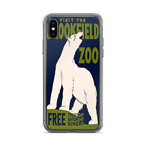 Vintage Poster - Visit The Brookfield Zoo 1662 - iPhone Xs Max Phone Case (Visit Brookfield Zoo)
