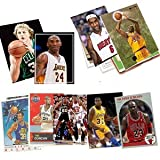 #3: 40 Basketball Hall-of-Fame & Superstar Cards Collection Including Players such as Michael Jordan, Magic Johnson, LeBron James. Ships in Protective Plastic Case Perfect for Gift Giving.