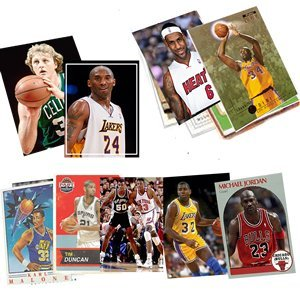 40 Basketball Hall-of-Fame & Superstar Cards Collection Including Players such as Michael Jordan, Magic Johnson, LeBron James. Ships in Protective Plastic Case Perfect for Gift Giving. (Michael Jordan Cards Basketball)