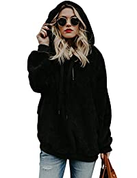 Sevozimda Womens Hoodie Sweatshirt Pullover Teddy Fleece Sweater Outerwear