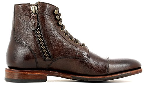Gordon & Bros Steve S160985 GL Stylischer, Eleganter Herren Leder Schnürstiefel mit Seitlichem Reißverschluss, Used Look, Leder/Gummisohle in Blake Rapid Machart Brown