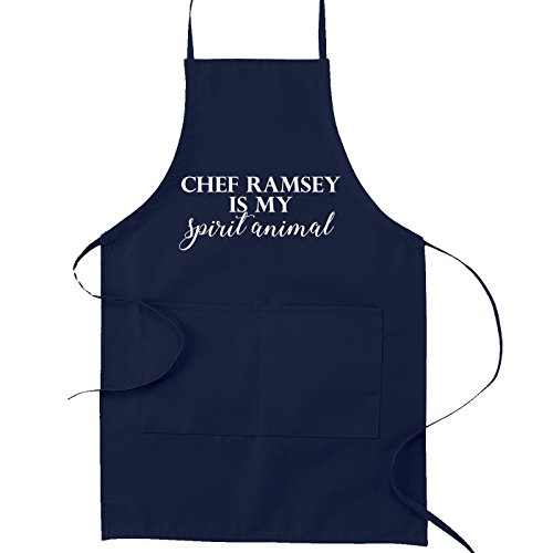 Chef Ramsey is My Spirit Animal Funny Parody Cooking Baking Kitchen Apron - Navy Blue by Decal Serpent