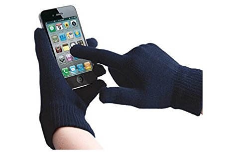 ONX3 Gionee P8w / Gionee Pioneer P8w (Dark Blue) Universal Unisex One Size Winter Touchscreen Gloves for All Smartphones/Tablets
