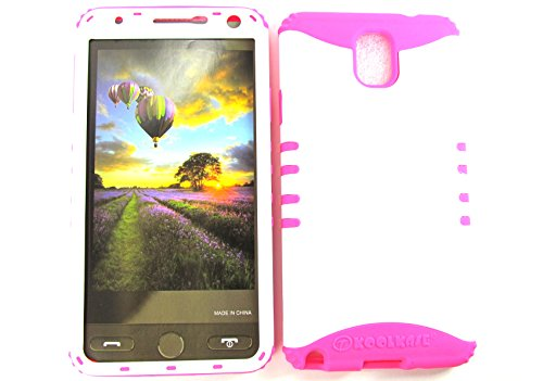 SAMSUNG GALAXY NOTE 3 CASE WHITE MA-A008-BH HEAVY DUTY HIGH IMPACT HYBRID COVER MAGENTA HOT PINK SILICONE