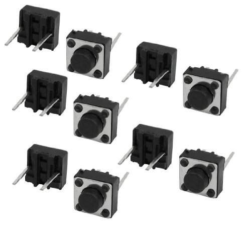 (10pcs 6x6x4.3mm Momentary Tactile Tact Push Button Switch Through Hole)