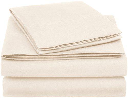 AmazonBasics Essential Cotton Blend Bed Sheet Set, Twin XL, Beige
