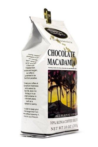 Value Pack - Hawaiian Isles Kona Chocolate Macadamia ground (4) 10 oz. Bags