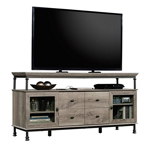 "Sauder Canal Street 60"" TV Stand in Norther Oak from Sauder"