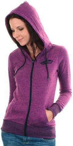 Vans Sweat Shirt à Capuche zippé pour Femme Violet Morado