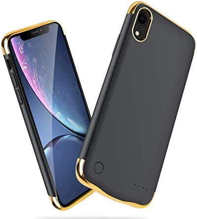 """KERTER Battery Case Just for iPhone XR [6.1""""], 5000mAh Rechargeable Charging Case Extended Battery Pack Protective Backup Ultra Slim Charger Case Portable Power Bank Case - Black"""