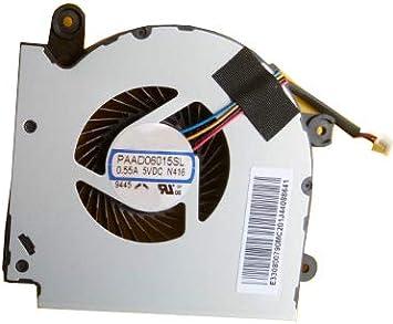 Ventilador portátil N416 para MSI GF75 MS-17F3 PAAD06015SL N416 ...