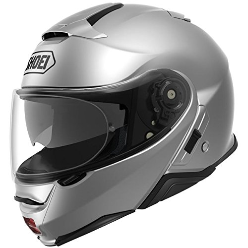Shoei Solid Neotec 2 Modular Motorcycle Helmet - Light Silver/Medium -  0116-0107-05
