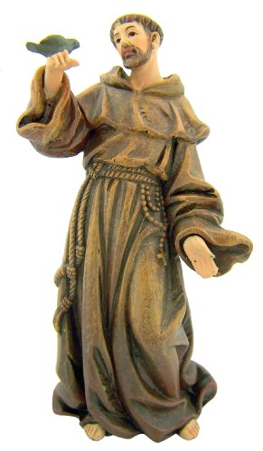 Saint Francis of Assisi Statue Resin Figurine with Prayer Gift Box, 4 Inch