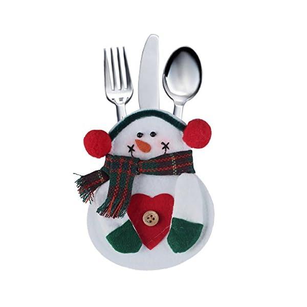 Portaposate Costume da Babbo Natale, Natale, decorazione per tavolo (8pcs) 4 spesavip