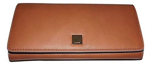 Lodis Womens Leather Bifold RFID Protected Credit Card Clutch Wallet Cognac