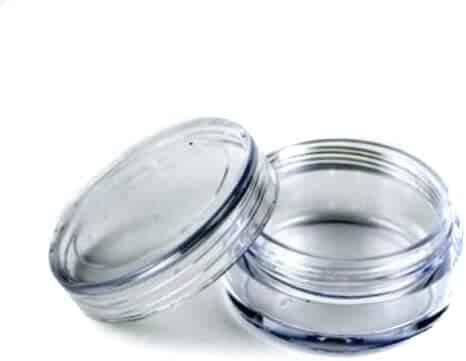 25 Pcs Empty Clear Plastic Cosmetic Containers 3g / 3ml Size Pot Jars Eyshadow Container