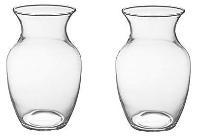 """8"""" Glass Rose Vase (Case of 2) #999"""