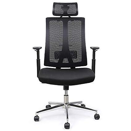 INTEY Bürostuhl, ergonomischer Schreibtischstuhl, Höhenverstellbar, Computerstuhl, höheverstallbare Armlehnen, 28g/cm³ sanfte