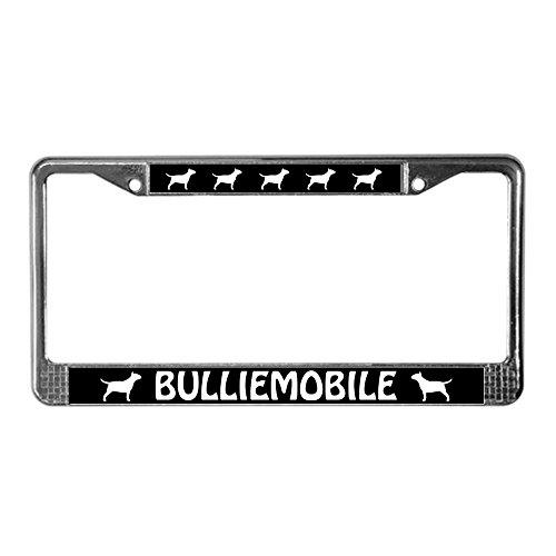 Terrier License Plate Frame (CafePress - Bull Terrier (Bulliemobile) License Plate Frame - Chrome License Plate Frame, License Tag Holder)