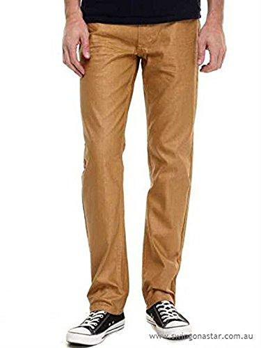 akademiks men's straight fit jeans wheat size:38/32 ()