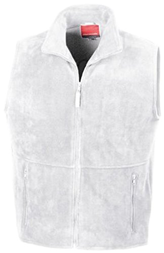 Fleece hombre Result blanco Blanco Active Outdoor chaleco tSnwqAfx