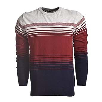 NEXGEN Red & Navy Round Neck Pullover Top For Men