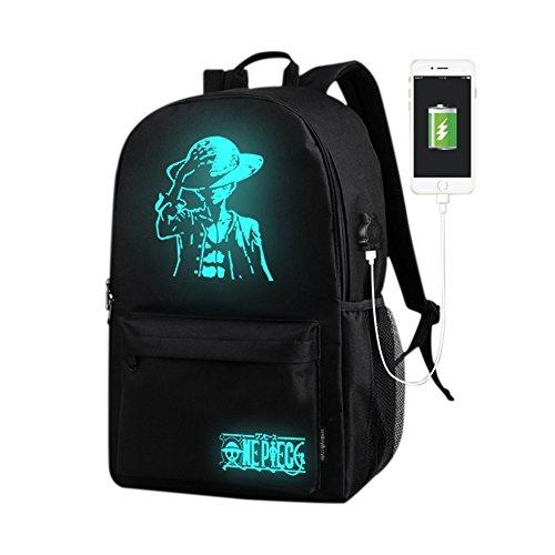 2018 Popular Brillando mochilas tipo casual para Hombres y Mujeres, Mochila con usb, Bolsa de viaje, Bolsa de computadora Pirata