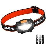 OMERIL LED Head Torch, Lightweight COB...