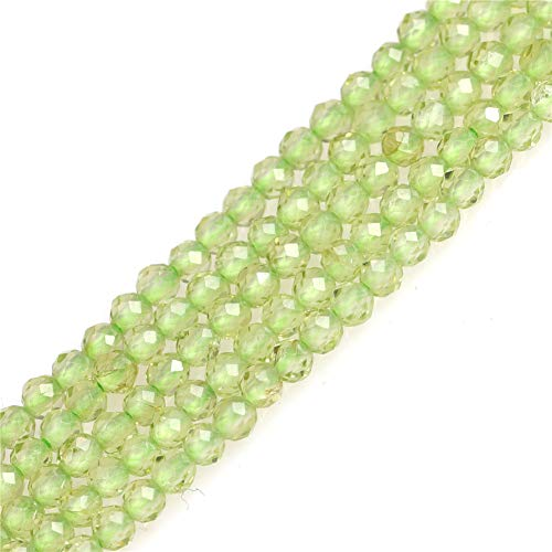 - Peridot Spacer Beads for Jewelry Making Natural Gemstone Semi Precious AAA Grade 2mm Faceted 15