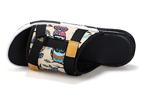 GLTER Los hombres flip flops sandalias transpirables nuevos zapatillas verano moda casual zapatos de playa owl