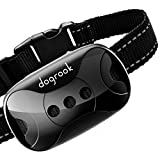 DogRook Rechargeable Dog Bark Collar - Humane, No Shock Barking Collar - w/2 Vibration & Beep Modes - Small, Medium, Large Dogs Breeds - No Harm Training - Automatic Action Without Remote & Adjustable