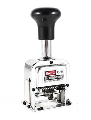 DMtse Silver Metal Tone 7 Digit Automatic Numbering Machine