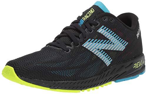 New Balance Men's 1400v6 Running Shoe, Black/Polaris, 12 2E US (New Barefoot Balance Shoes)