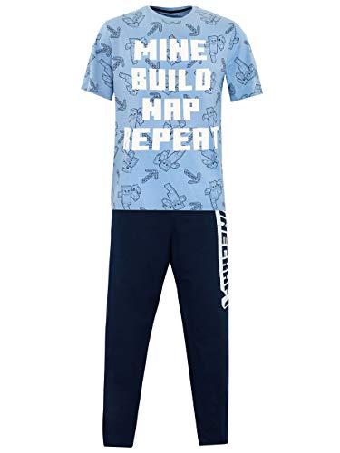 Minecraft Creeper Pants (Minecraft Mens Pajamas Blue Size)