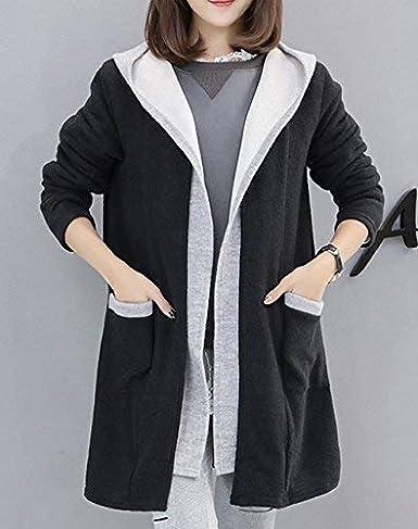 31ff18d1880ce Donna Cappotto Taglie Forti Autunno Invernali Fashion Incappucciato  Cappotto di Transizione Eleganti Relaxed Grazioso Tempo Libero Maniche  Lunghe Caldo ...