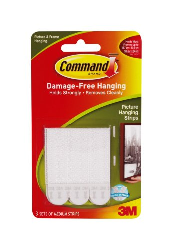 3 Sets Command Medium Picture Hanging Strips