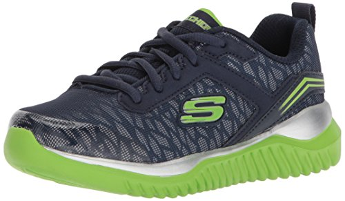 Skechers Kids Boys' Turboshift Sneaker,Navy/Lime,1.5 Medium US Little Kid