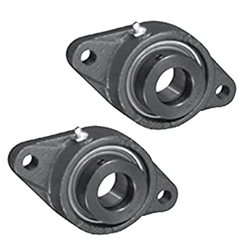 2x 5//8 in 2-Bolts Flange Cast Iron SAFL202-10 Mounted Bearing SA202-10G+FL203