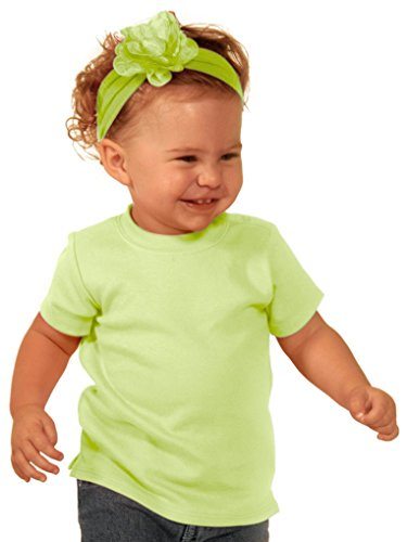 Kavio! Unisex Infants Snap Shoulder Short Sleeve Top Lime 18M