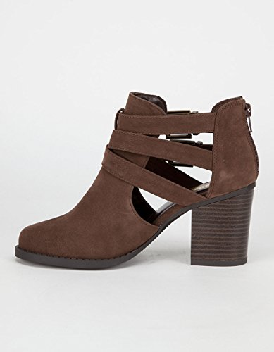 Soda Soda Brown Womens Booties Scribe Booties Brown Soda Womens Scribe fxSBZB5q