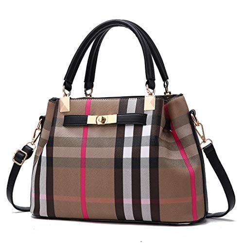 Designer Crossbody Bag Leather Handbag Fashion Shoulder Messager Bags for Womens (Style 3 black)