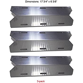 SH1231 (3-pack) Stainless Steel Heat Plate for Costco Jenn-air, Sterling Forge, Glen Canyon, Kirkland, Nexgrill Gas Grill Models