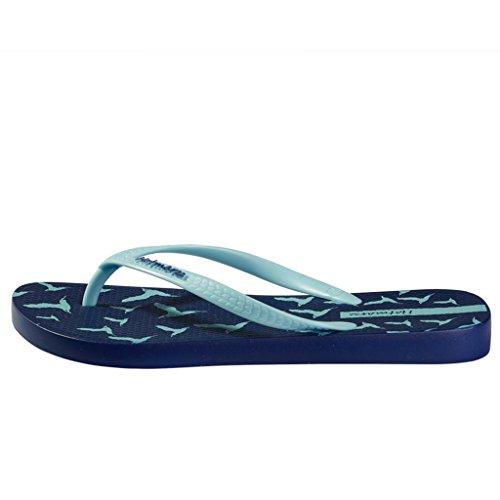 CN B EU 41 Hotmarzz US Sandalias Summer 40 Flip Shoes Azul 's M Birds Pantuflas Women Seagull 9 Flops Blue Beach xT7aTUSq